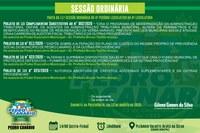 PAUTA DA 11ª SESSÃO ORDINÁRIA DO 4º PERÍODO LEGISLATIVO DA 9ª LEGISLATURA