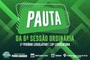 PAUTA DA 6ª SESSÃO ORDINÁRIA