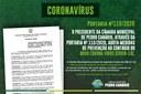 Portaria nº115/2020 - COVID-19